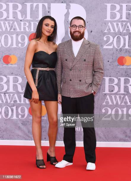 Daisy Maskell and Tom Green attend The BRIT Awards 2019 held at The O2 Arena on February 20 2019 in London England