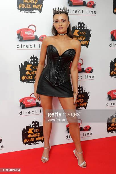 Daisy Maskell attends the KISS Haunted House Party 2019 at The SSE Arena Wembley on October 25 2019 in London England