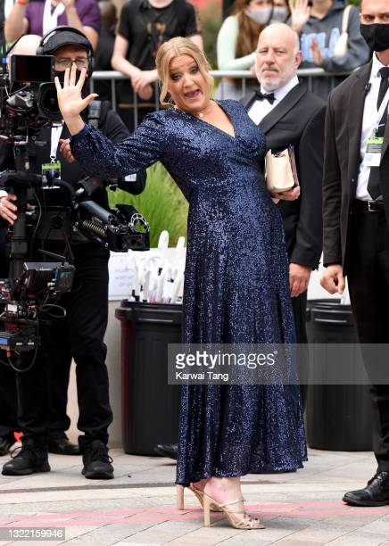 Daisy May Cooper arrives for the Virgin Media Bafta TV Awards at Television Centre on June 06, 2021 in London, England.