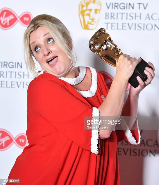 Daisy May Cooper with the award for Scripted Comedy for 'This Country' poses in the press room during the Virgin TV British Academy Television Awards...