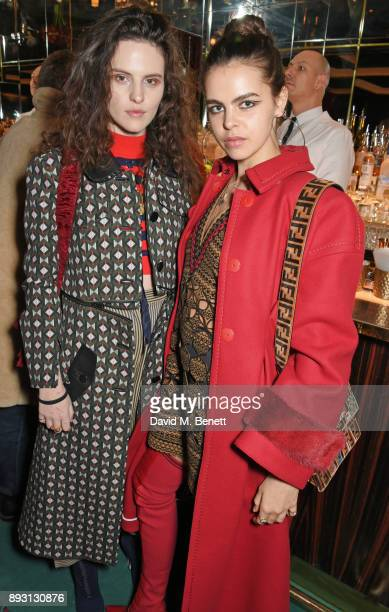 Daisy Maybe and Bee Beardsworth attend an after party celebrating the FENDI Sloane Street Boutique opening at Isabel on December 14 2017 in London...