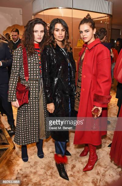 Daisy Maybe Katie Keight and Bee Beardsworth attend the FENDI Sloane Street boutique opening on December 14 2017 in London England