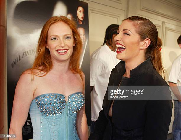 Daisy McCrackin and Bianca Kajlich at the premiere of Halloween Resurrection at the Mann Festival in Westwood Ca Monday July 1 2002 Photo by Kevin...