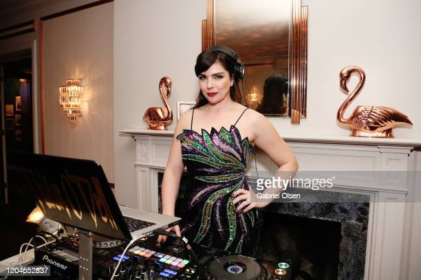 Daisy O'Dell attends Red Carpet Green Dress at the Private Residence of Jonas Tahlin CEO of Absolut Elyx on February 06 2020 in Los Angeles California