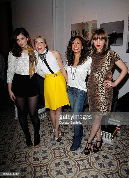 DJ Daisy O'Dell DJ Mia Moretti DJ Nicole Lyn and DJ Caitlin Moe attend Vanity Fair Campaign Hollywood 2011's DJ Night at Palihouse with L'Oreal and...