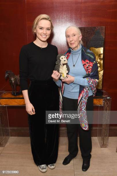 Daisy Ridley and Jane Goodall arrive at Porter Magazine's 'Incredible Women Talk' with Dr Jane Goodall to celebrate the BAFTA nominated 'Jane' in...
