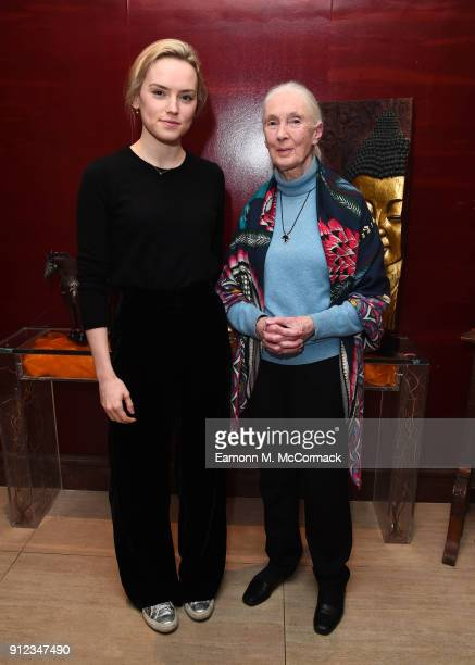 Daisy Ridley and Jane Goodall attend PORTERÕs Incredible Women Talk followed by a screening of the BAFTA nominated Jane in association with National...