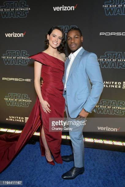 Daisy Ridley and John Boyega arrive for the World Premiere of Star Wars The Rise of Skywalker the highly anticipated conclusion of the Skywalker saga...