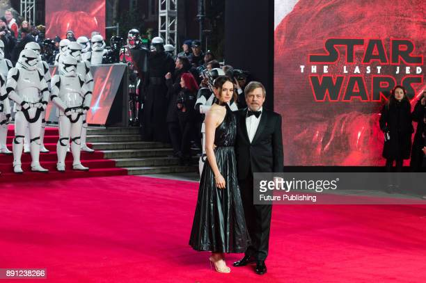 Daisy Ridley and Mark Hamill attend the European film premiere of 'Star Wars The Last Jedi' at the Royal Albert Hall in London December 12 2017 in...