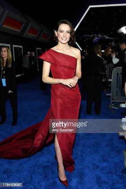 "Daisy Ridley arrives for the World Premiere of ""Star Wars: The Rise of Skywalker"", the highly anticipated conclusion of the Skywalker saga on..."