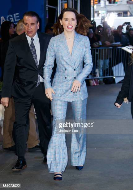 Daisy Ridley at GMA on November 28 2017 in New York City