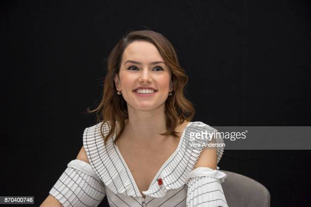 "Daisy Ridley at the ""Murder on the Orient Express"" Press Conference at the Claridges Hotel on November 3, 2017 in London, England."