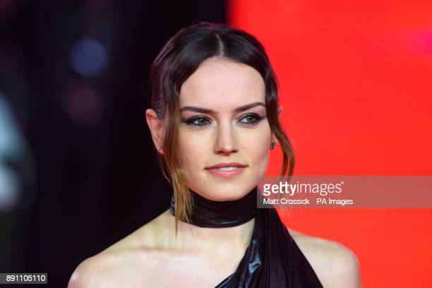 Daisy Ridley attending the european premiere of Star Wars The Last Jedi held at The Royal Albert Hall London Picture date Tuesday December 12 2017...