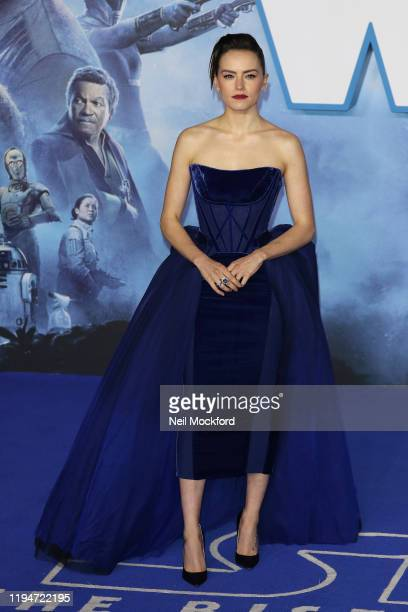 Daisy Ridley attends Star Wars The Rise of Skywalker European Premiere at Cineworld Leicester Square on December 18 2019 in London England