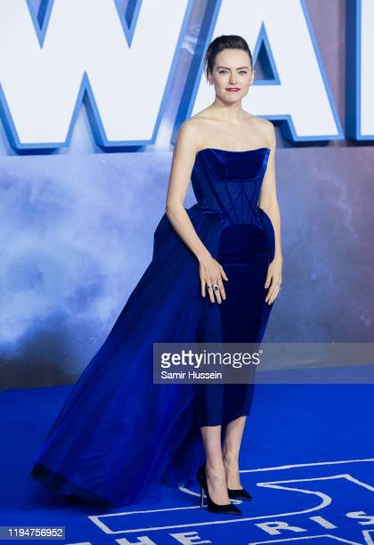 "Daisy Ridley attends ""Star Wars: The Rise of Skywalker"" European Premiere at Cineworld Leicester Square on December 18, 2019 in London, England."