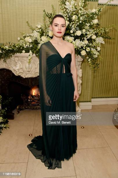 Daisy Ridley attends the British Vogue and Tiffany & Co. Fashion and Film Party at Annabel's on February 2, 2020 in London, England.