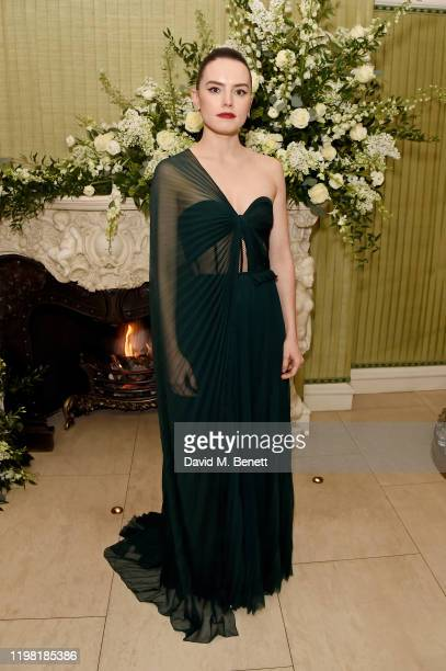 Daisy Ridley attends the British Vogue and Tiffany Co Fashion and Film Party at Annabel's on February 2 2020 in London England