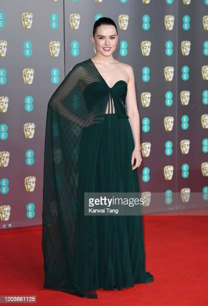 Daisy Ridley attends the EE British Academy Film Awards 2020 at Royal Albert Hall on February 02, 2020 in London, England.