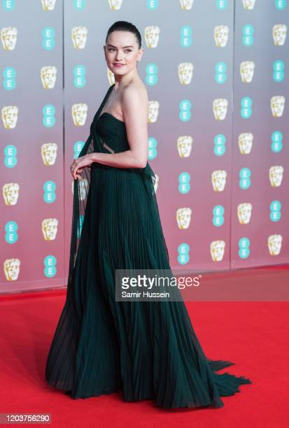 Daisy Ridley attends the EE British Academy Film Awards 2020 at Royal Albert Hall on February 02 2020 in London England