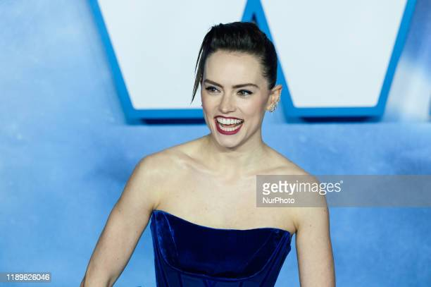 Daisy Ridley attends the European film premiere of 'Star Wars The Rise of Skywalker' at Cineworld Leicester Square on 18 December 2019 in London...