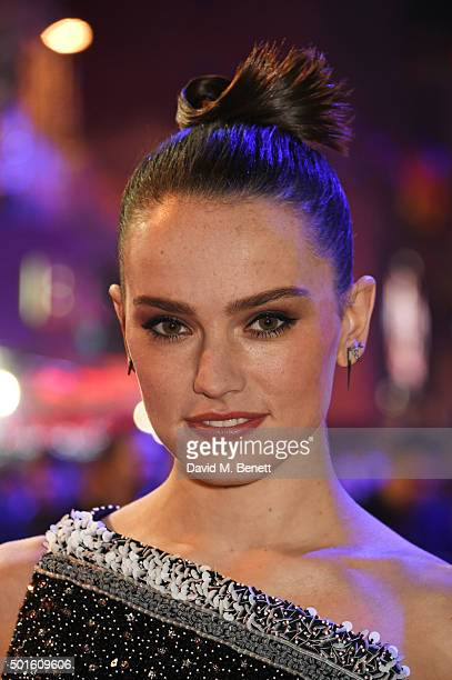 Daisy Ridley attends the European Premiere of Star Wars The Force Awakens in Leicester Square on December 16 2015 in London England
