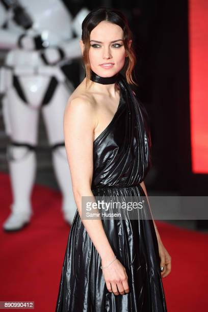 Daisy Ridley attends the European Premiere of 'Star Wars The Last Jedi' at Royal Albert Hall on December 12 2017 in London England