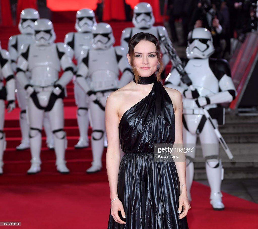 Daisy Ridley attends the European Premiere of 'Star Wars: The Last Jedi' at Royal Albert Hall on December 12, 2017 in London, England.