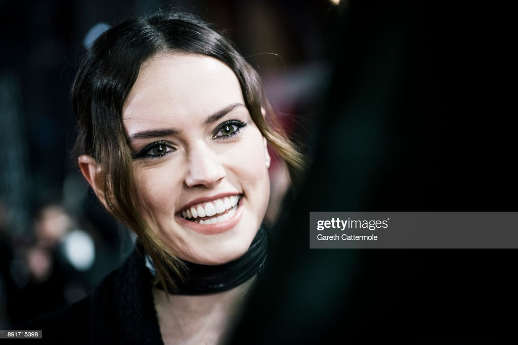Daisy Ridley attends the European Premiere of Star Wars: The Last Jedi at the Royal Albert Hall on December 12, 2017 in London, England.