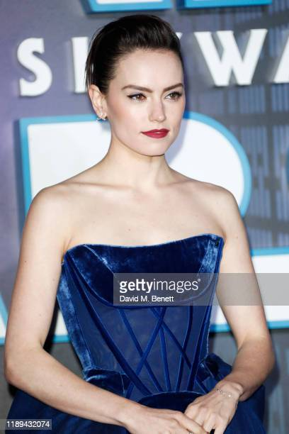 Daisy Ridley attends the European Premiere of Star Wars The Rise of Skywalker at Cineworld Leicester Square on December 18 2019 in London England