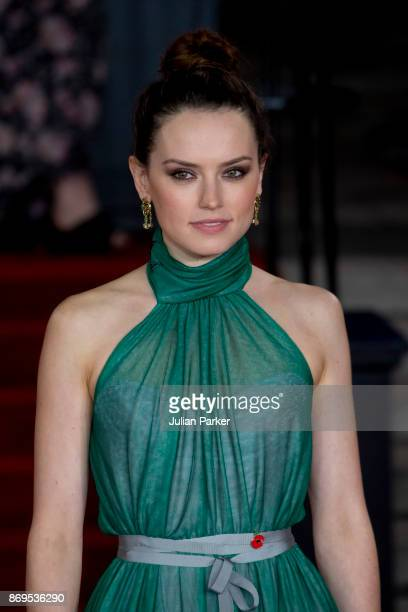 Daisy Ridley attends the 'Murder On The Orient Express' World Premiere held at Royal Albert Hall on November 2 2017 in London England
