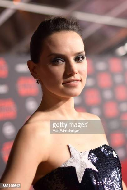Daisy Ridley attends the premiere of Disney Pictures and Lucasfilm's 'Star Wars The Last Jedi' at The Shrine Auditorium on December 9 2017 in Los...