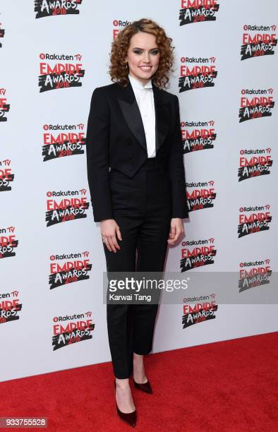 Daisy Ridley attends the Rakuten TV EMPIRE Awards 2018 at The Roundhouse on March 18 2018 in London England