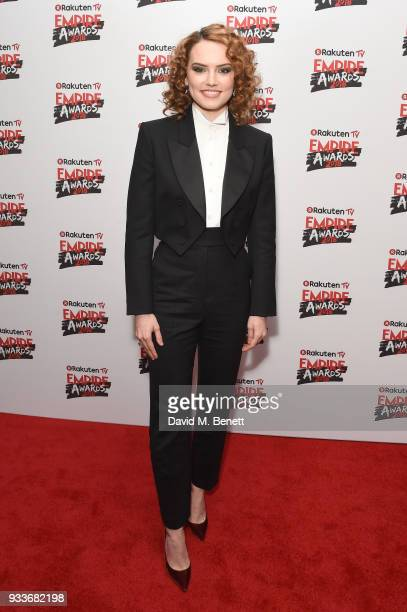 Daisy Ridley attends the Rakuten TV EMPIRE Awards 2018 cocktail reception at The Roundhouse on March 18 2018 in London England