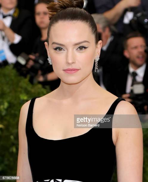 Daisy Ridley attends the Rei Kawakubo/Comme des Garcons Art Of The InBetween Costume Institute Gala at Metropolitan Museum of Art on May 1 2017 in...