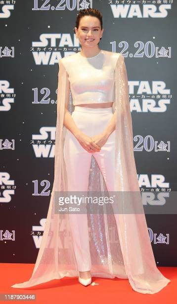 Daisy Ridley attends the special fan event for 'Star Wars The Rise of Skywalker' at Roppongi Hills on December 11 2019 in Tokyo Japan