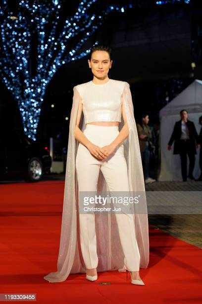 Daisy Ridley attends the special fan event for 'Star Wars: The Rise of Skywalker' at Roppongi Hills on December 11, 2019 in Tokyo, Japan.