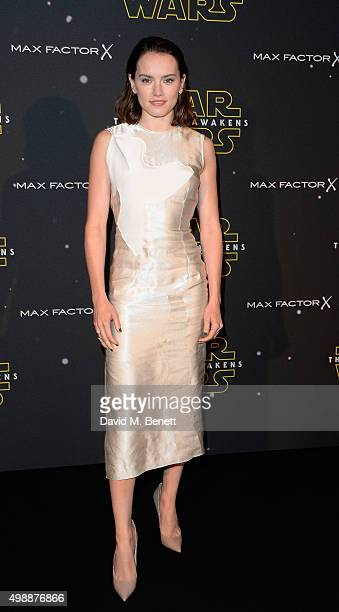 Daisy Ridley attends the Star Wars Fashion Finds The Force presentation at the Old Selfridges Hotel London 10 Londonbased designers showcased...