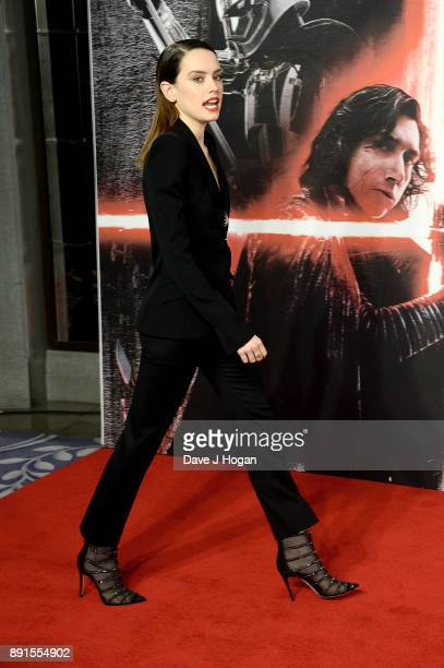 Daisy Ridley attends the 'Star Wars The Last Jedi' photocall at Corinthia Hotel London on December 13 2017 in London England