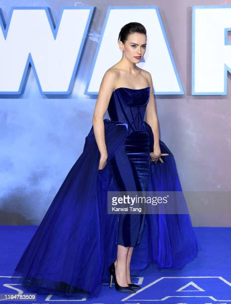 Daisy Ridley attends the Star Wars The Rise of Skywalker European Premiere at Cineworld Leicester Square on December 18 2019 in London England