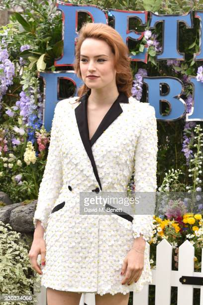 Daisy Ridley attends the UK Gala Premiere of 'Peter Rabbit' at the Vue West End on March 11 2018 in London England