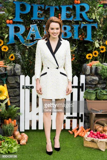 Daisy Ridley attends the UK Gala Screening of 'Peter Rabbit' at Vue West End on March 11 2018 in London England