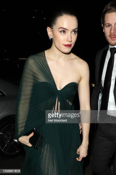 Daisy Ridley attends the Vogue x Tiffany Fashion Film after party for the EE British Academy Film Awards 2020 at Annabel's on February 02 2020 in...