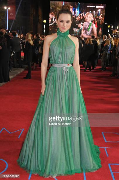 Daisy Ridley attends the World Premiere of 'Murder On The Orient Express' at The Royal Albert Hall on November 2 2017 in London England