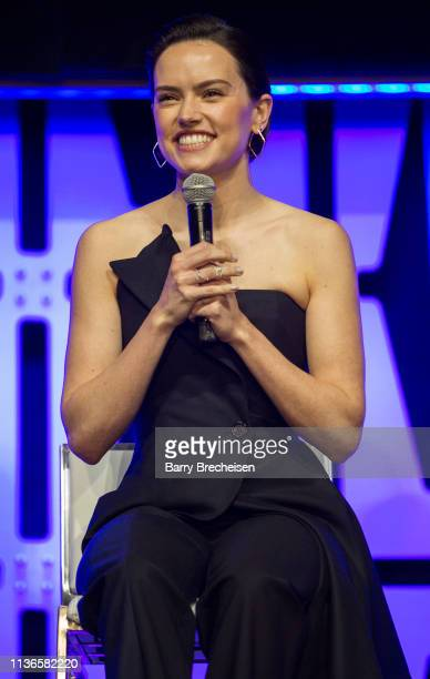 Daisy Ridley during the Star Wars Celebration at the Wintrust Arena on April 12, 2019 in Chicago, Illinois.
