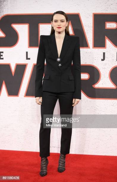 Daisy Ridley during the 'Star Wars The Last Jedi' photocall at Corinthia Hotel London on December 13 2017 in London England