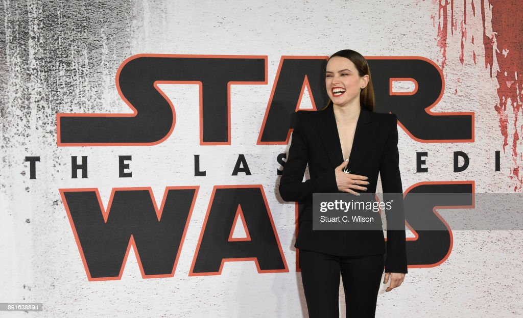 Daisy Ridley during the 'Star Wars: The Last Jedi' photocall at Corinthia Hotel London on December 13, 2017 in London, England.