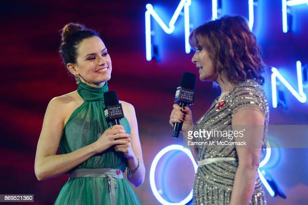 Daisy Ridley is interviewed by Lorraine Kelly live at BUILD at the 'Murder On The Orient Express' World Premiere held at Royal Albert Hall on...