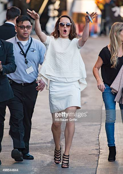 Daisy Ridley is seen at 'Jimmy Kimmel Live' on November 23 2015 in Los Angeles California
