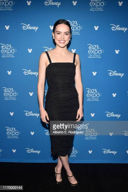 Daisy Ridley of 'Star Wars: The Rise of Skywalker' took part today in the Walt Disney Studios presentation at Disney's D23 EXPO 2019 in Anaheim,...