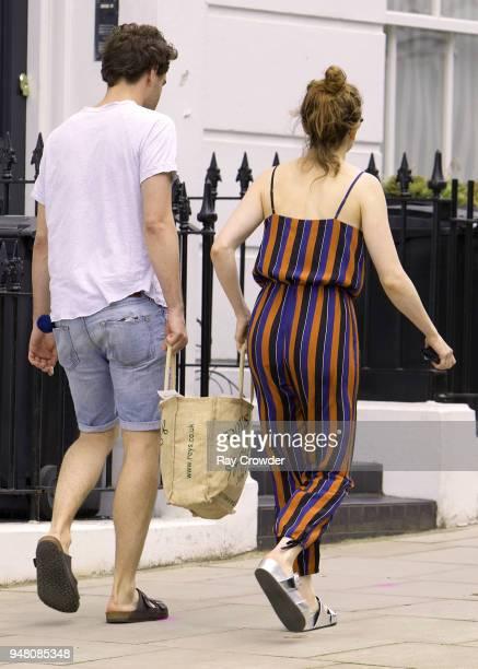 Daisy Ridley seen with rumoured boyfriend Tom Bateman shopping in Primrose Hill on April 18 2018 in London England
